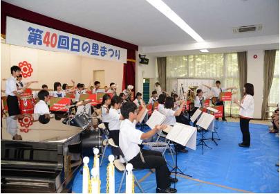 宗像高校 吹奏楽部演奏 日の里まつり