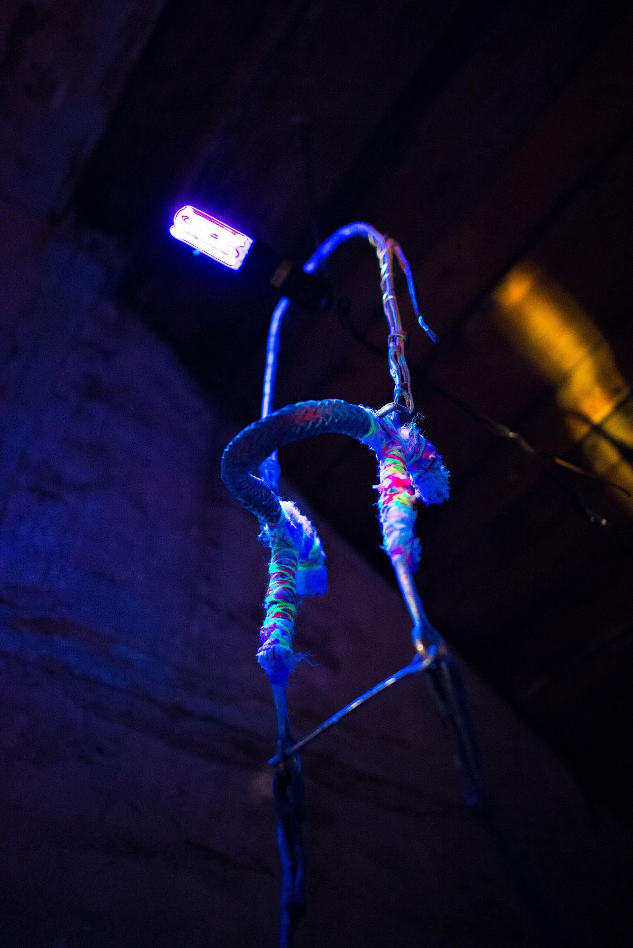 Lichtinstallation Künstlerin Judith Horvath Foto: Jens Seemann
