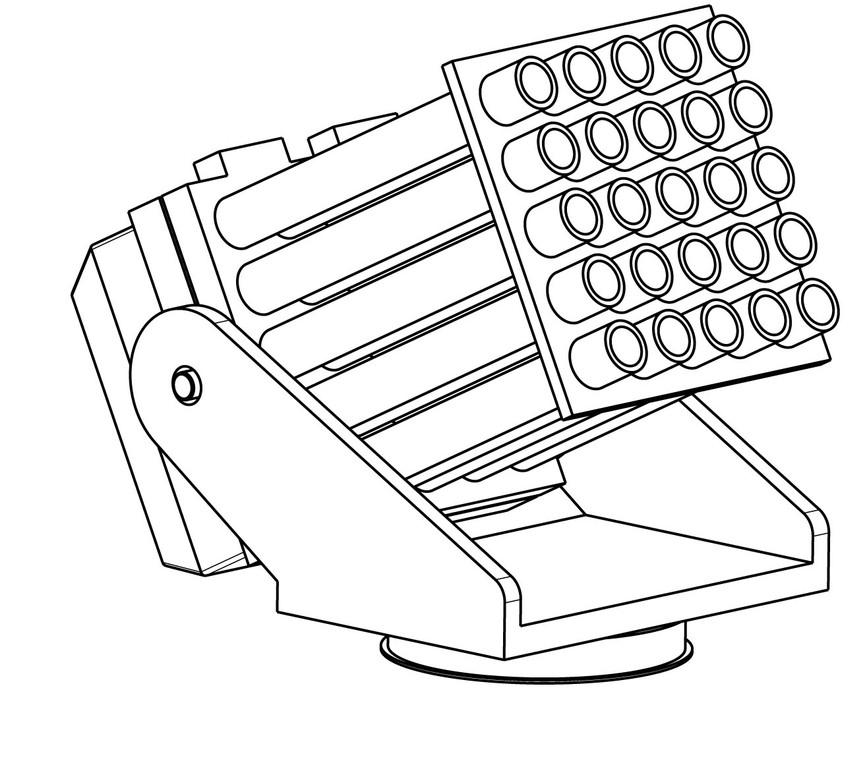 Pyro Launcher - Batterie zum Abfeuern pyrotechnischer Signale