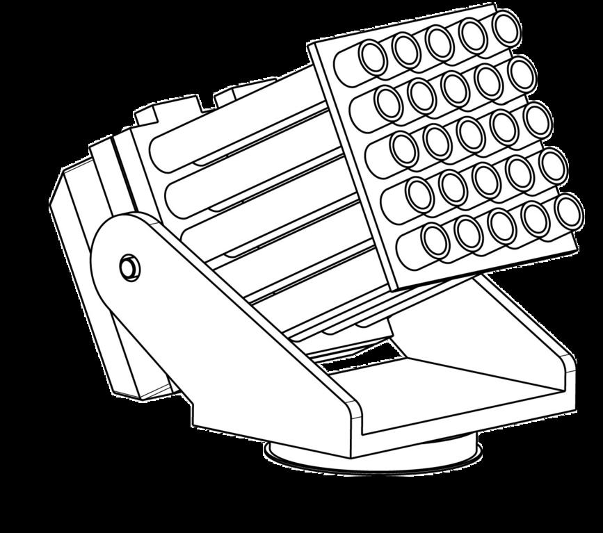 Pyro Launcher - Batterie zum Abfeuern pyrotechnischer Geschosse