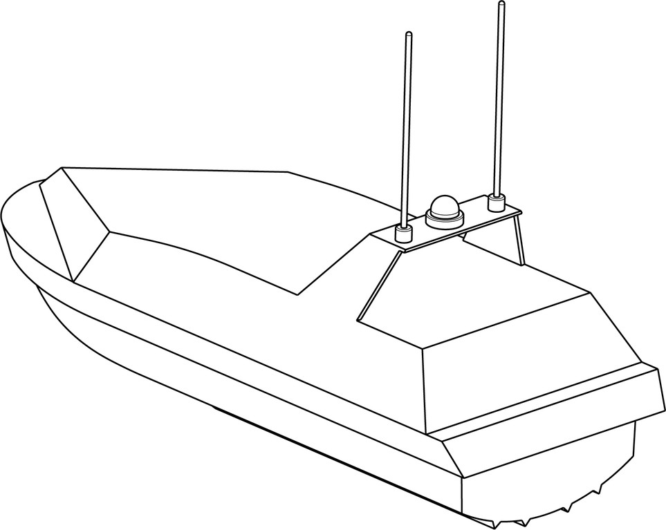 USV - unmanned, remote controlled surface vehicle for danger defense at sea
