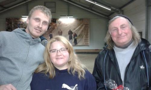 Sieger Bruno (re.) mit Florian (Platz 3) und Romina