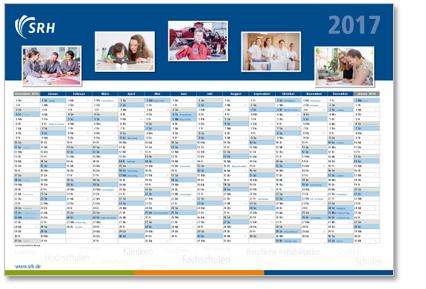 SRH Kalender Werbeagentur Design Labor Seckenheim