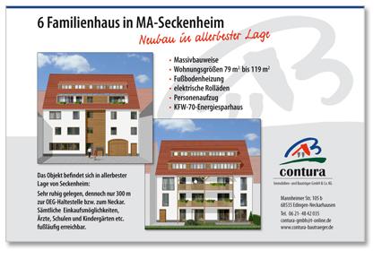 Bauschild Werbeagentur Design Labor Seckenheim