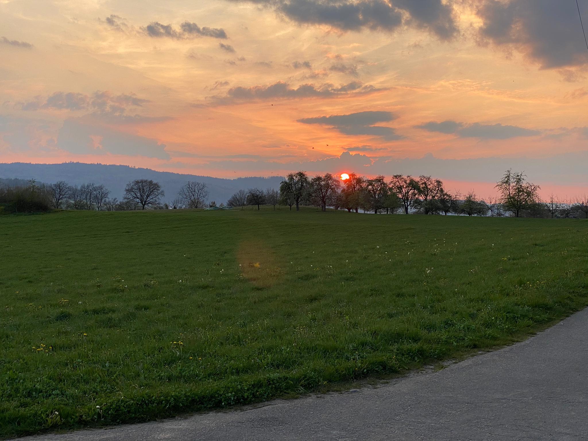 Outdoor Training: Abend-Stimmung beim Stretching
