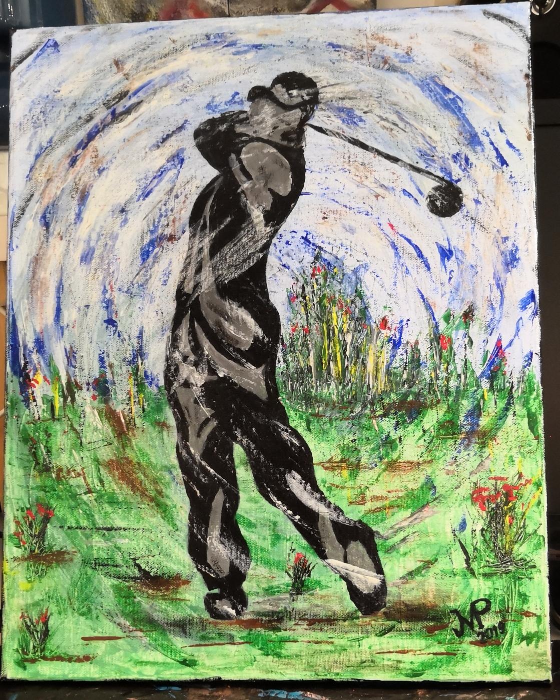 Golfeur en mouvement