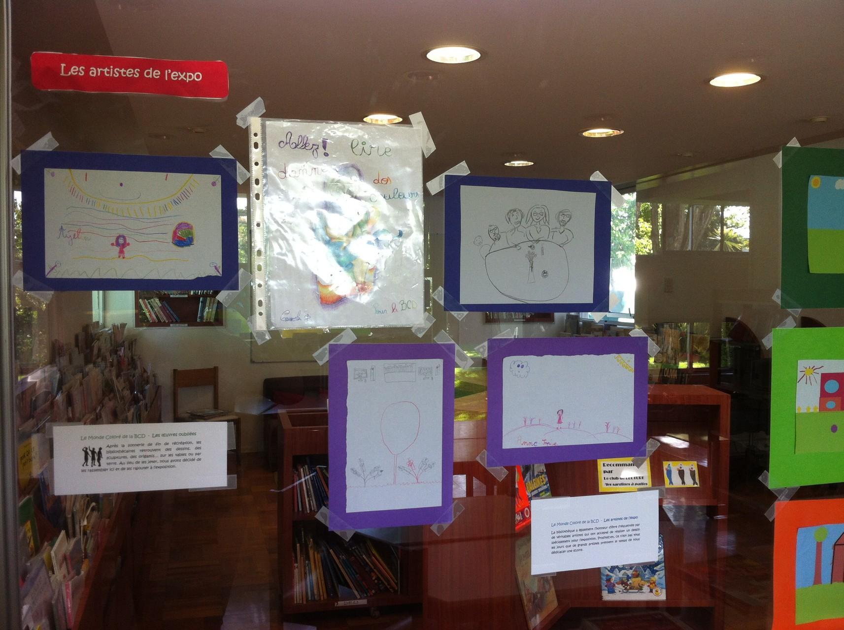 Les dessins réalisés pour l'expo