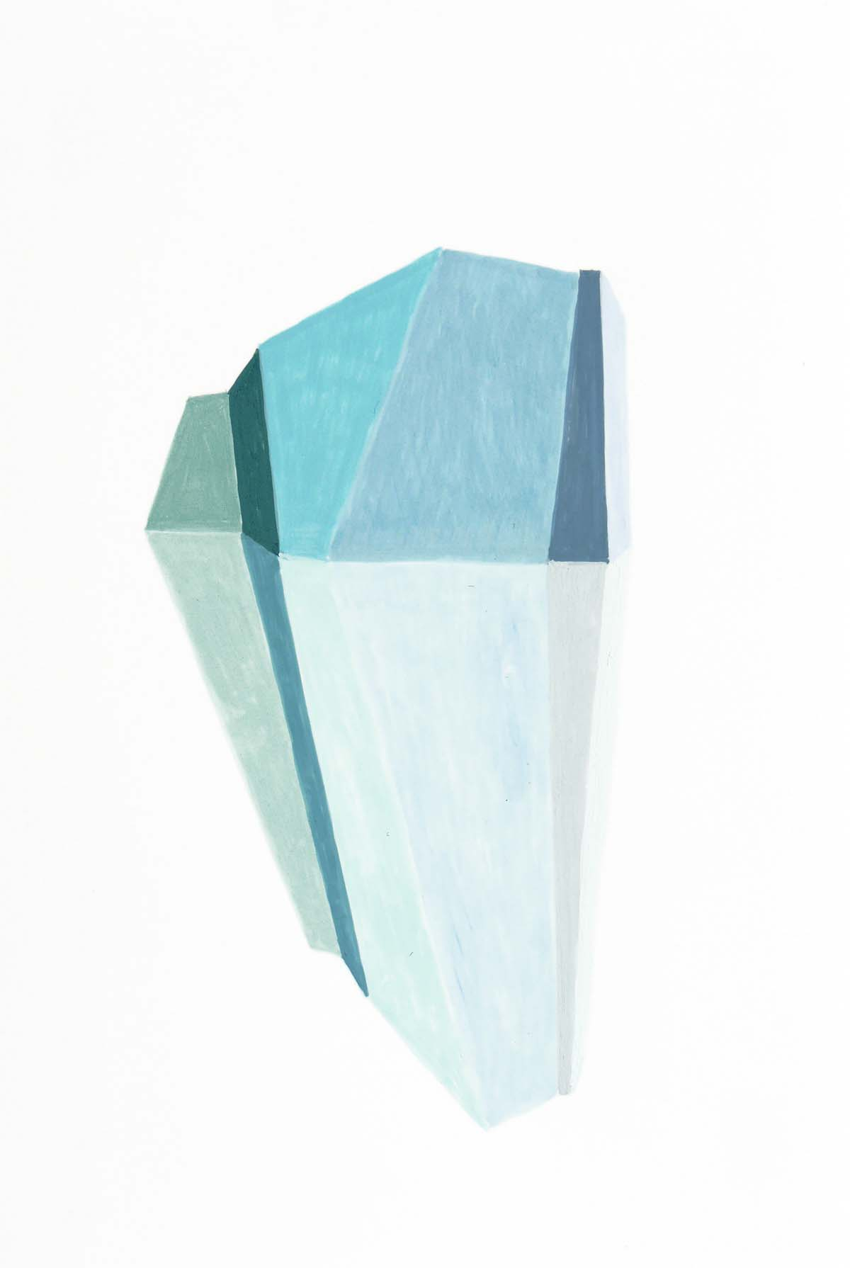 Crystal 16, 10 x 15 cm, Gouache on photographic paper, 2016