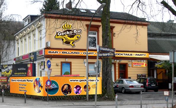 Gecko Bar :: Aussenwerbung Entwurf