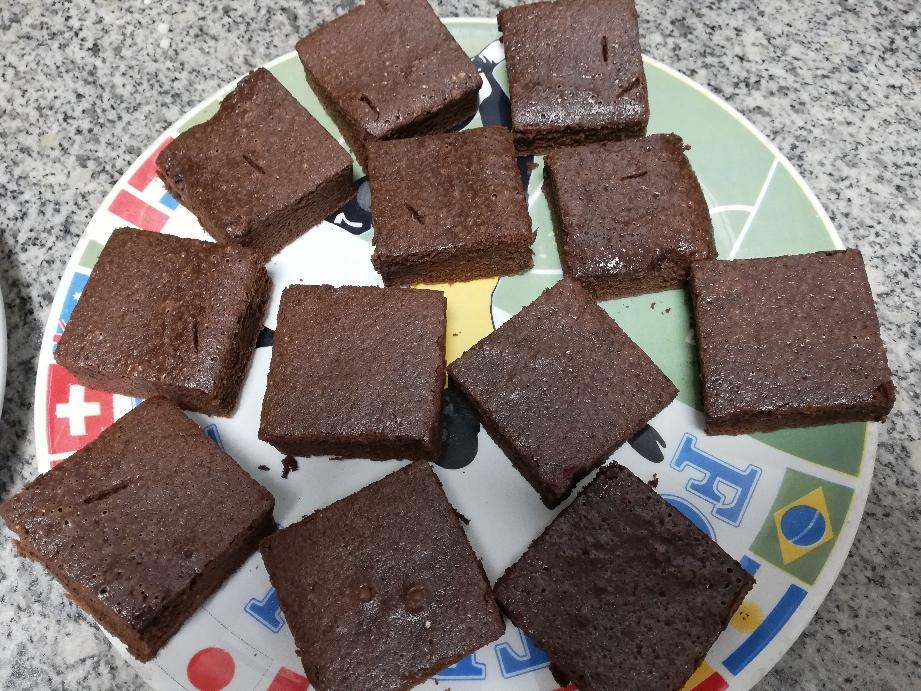 Brownie casero, recién salido del horno