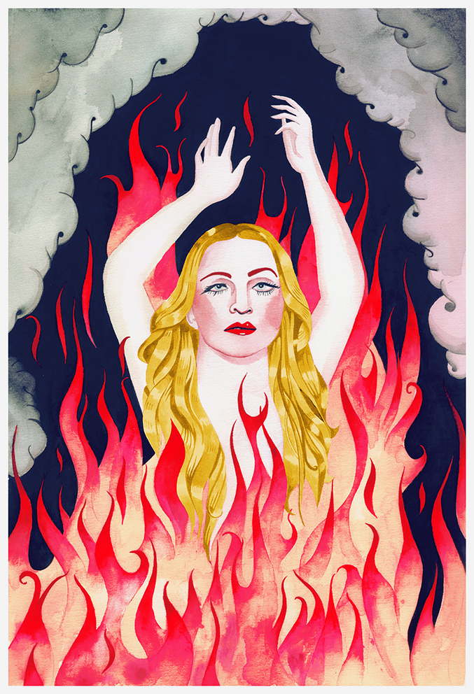 Vanity on fire. Madonna