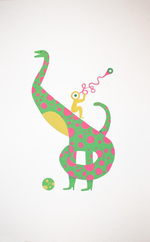 Balada triste de trompeta sobre dinosauria patilarga en trance de desove