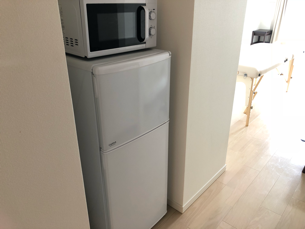 冷蔵庫と電子レンジ