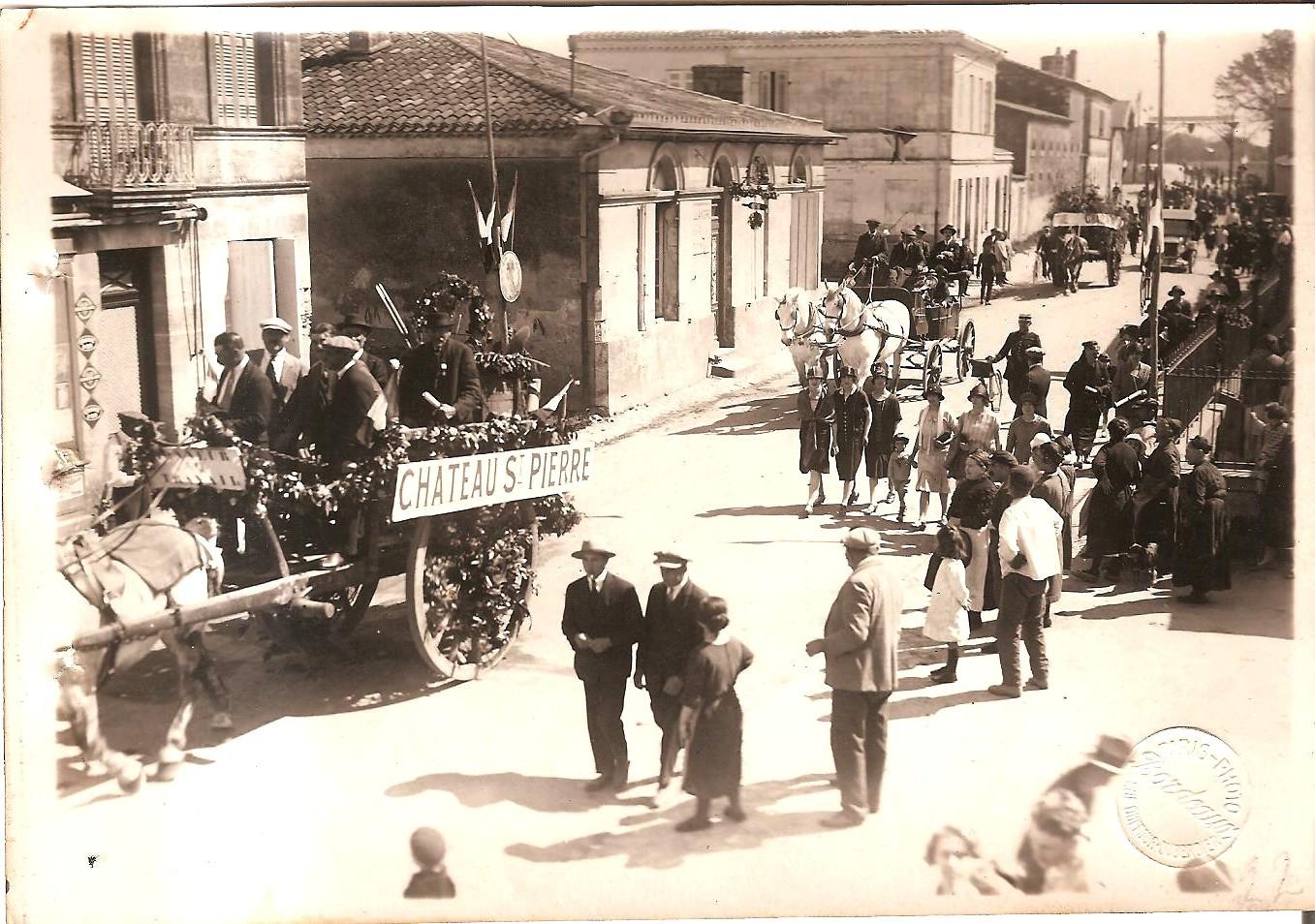 l'entrée des chars à Beychevelle