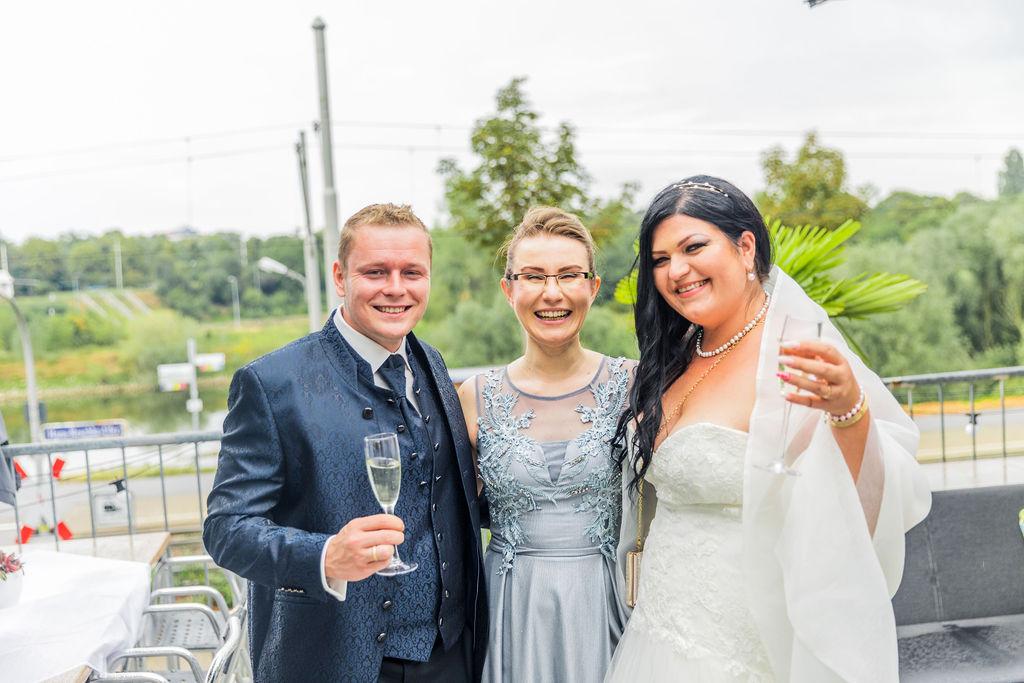 Als Traurednerin in Mannheim unterwegs - die Hochzeit und Freie Trauung von Violetta und Lukasz im Bootshaus Mannheim