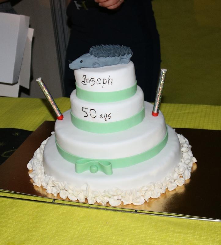 Un beau gâteau d'anniversaire pour Joseph !