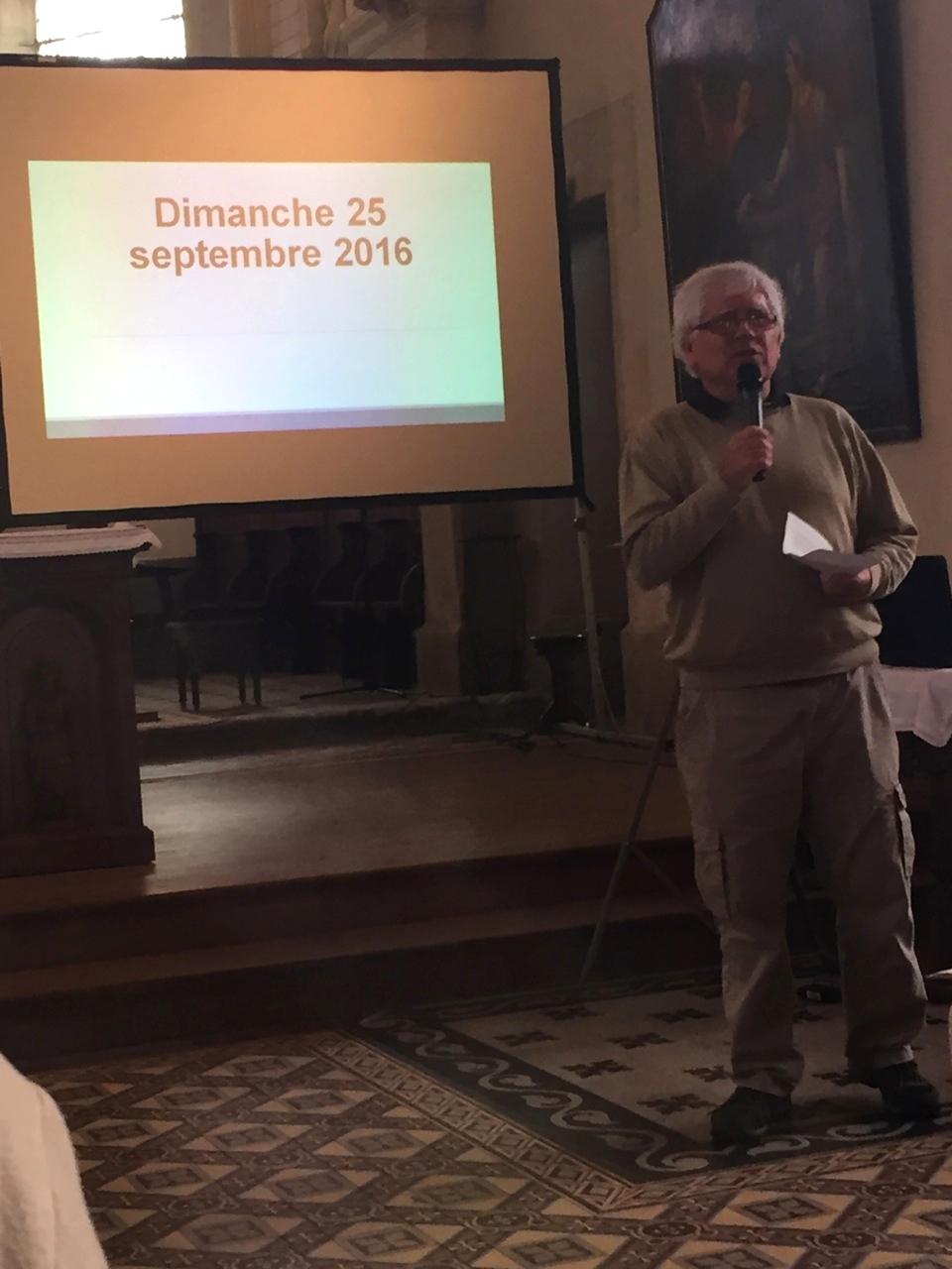 Présentation de la paroisse par le P. Jean-Pierre Crétois
