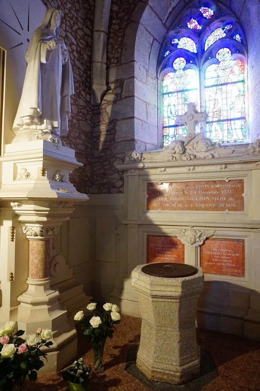 Le baptistère où fut baptisée Ste Zélie