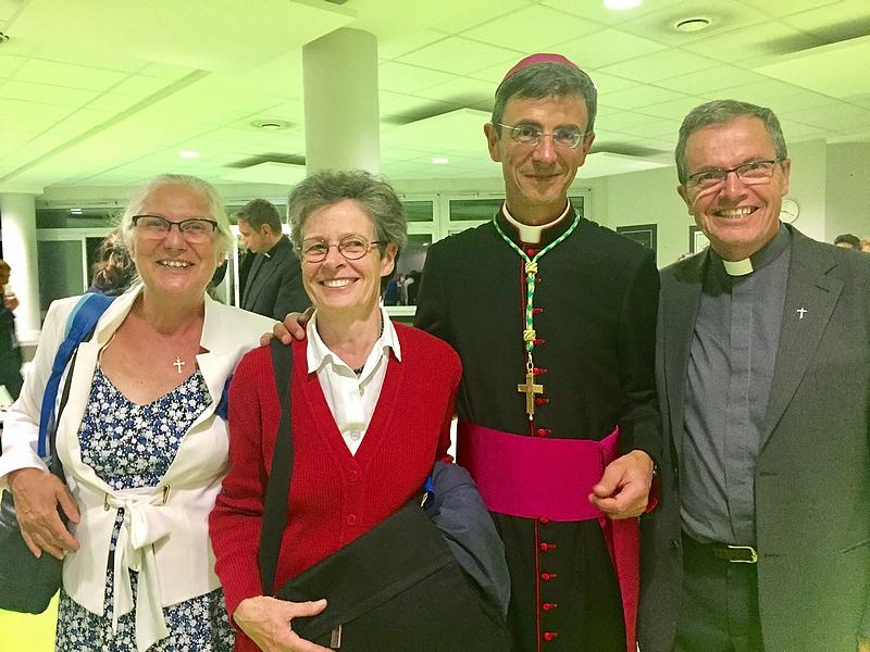 Avec Sophie Curial et Anne de Gouville (conseillère épiscopale)