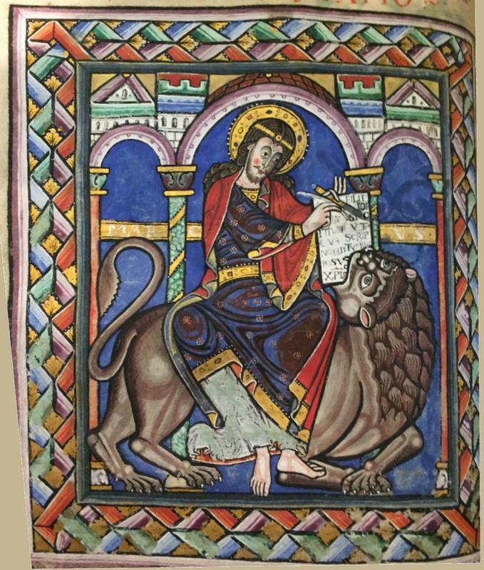 L'évangéliste sur le « lion » : Saint Marc