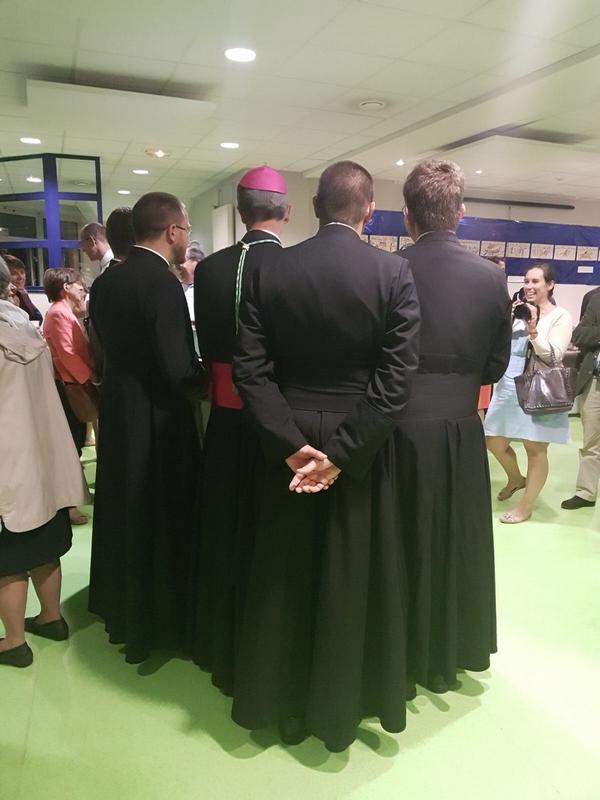 Avec des jeunes prêtres de la Manche
