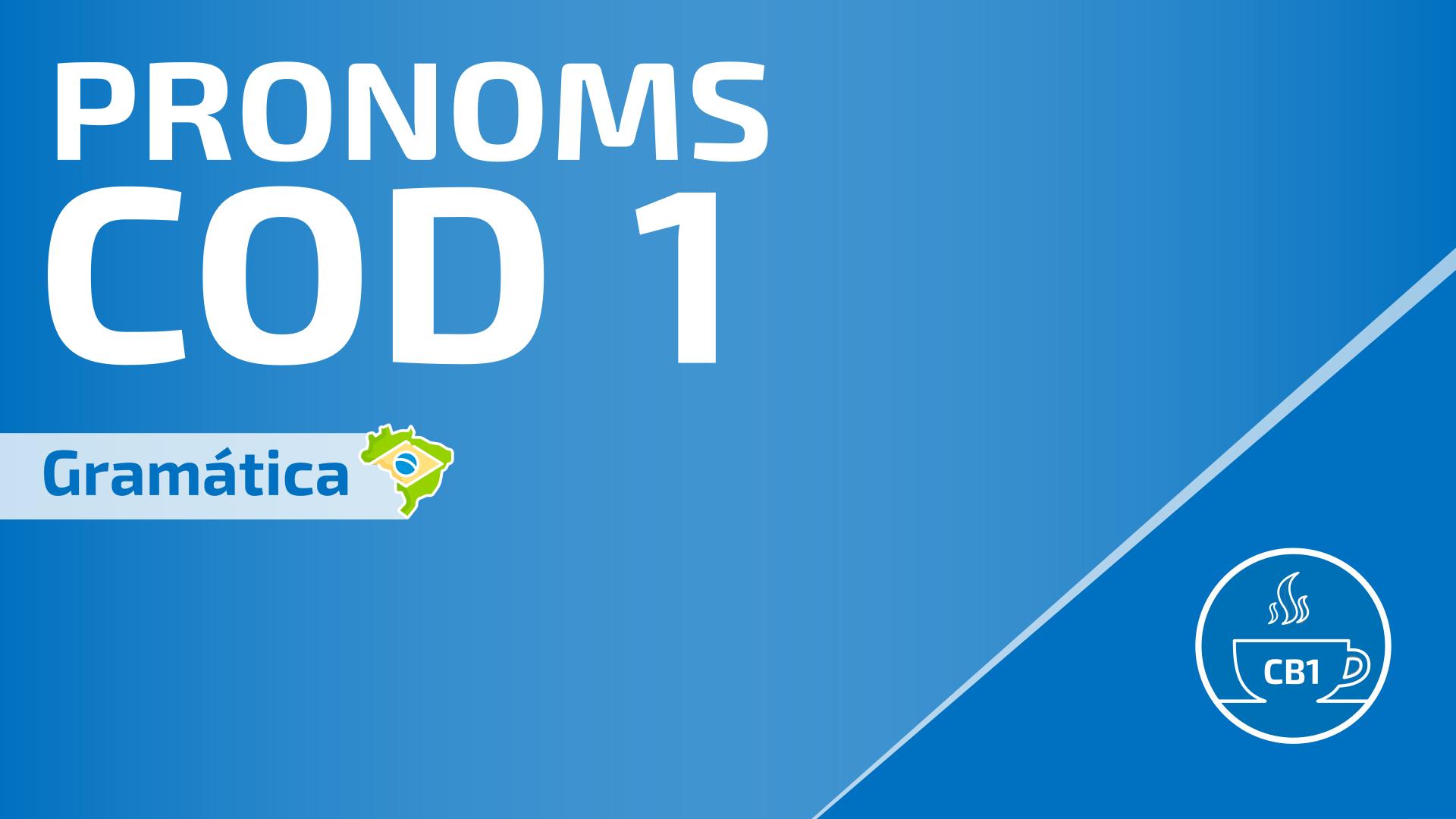 Pronoms COD en portugais 1
