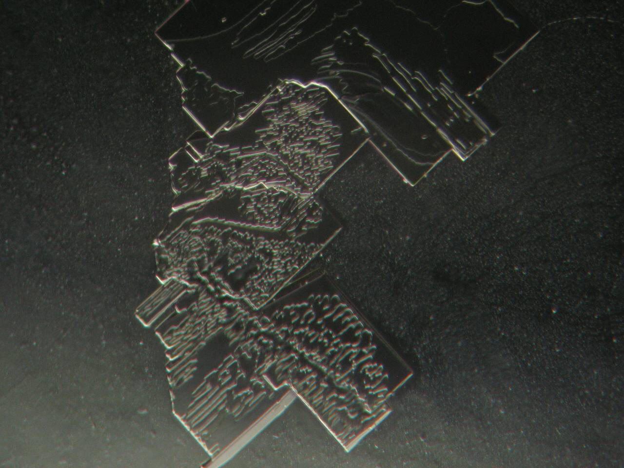 Getrockneter Impfstoff mit seltsam technisch anmutender Struktur