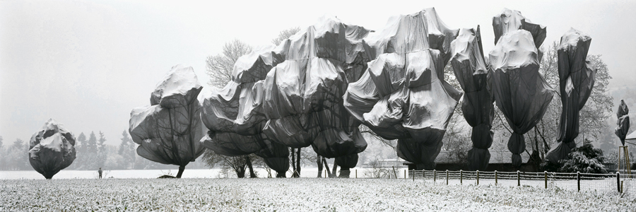 Christo and Jeanne-Claude, Wrapped Trees, Fondation Beyeler and Berower Park, Riehen, Switzerland, 1997-98