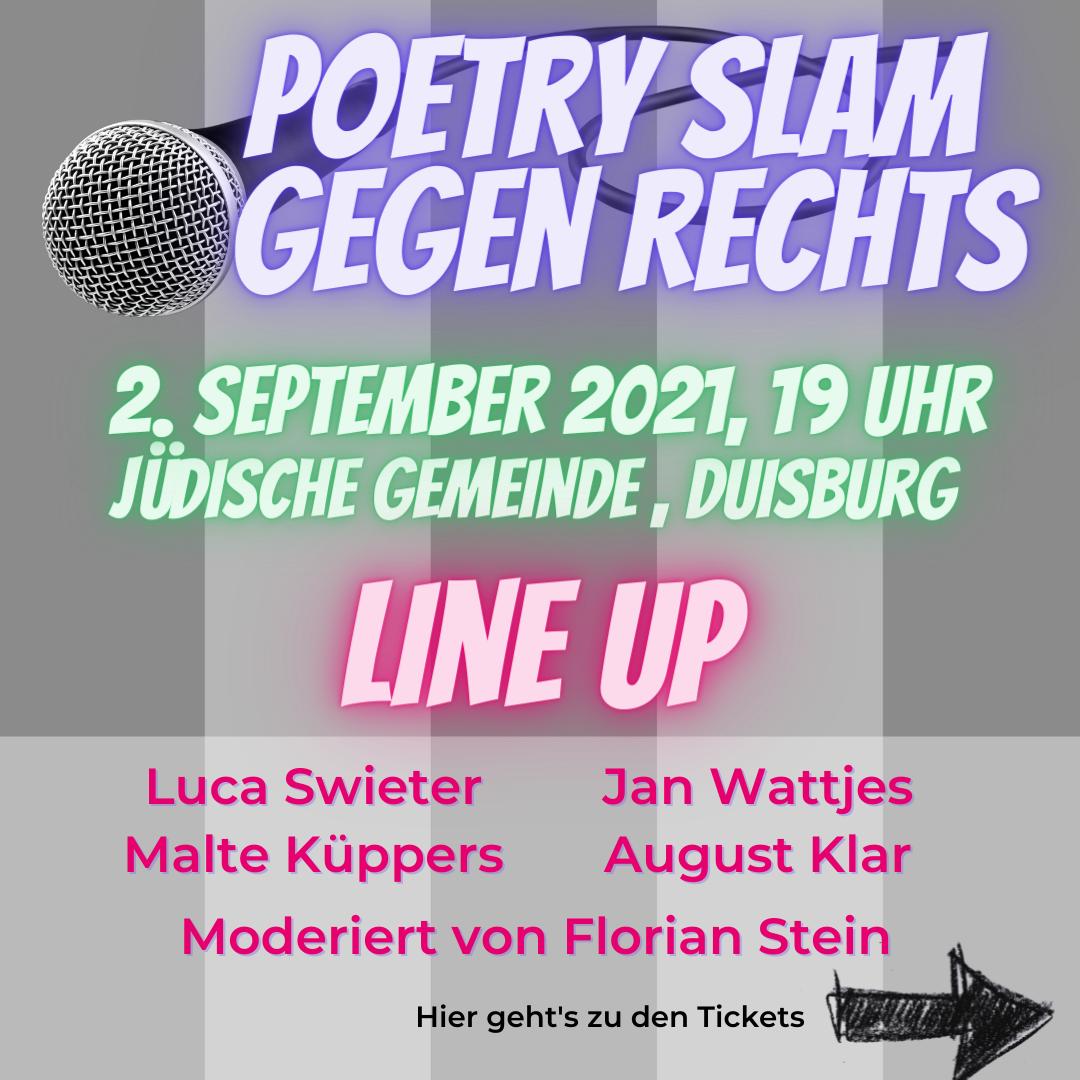 Poetry Slam gegen Rechts bei der jüdischen Gemeinde