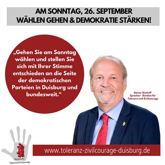 """""""Am Sonntag wählen gehen und Demokratie stärken!"""""""