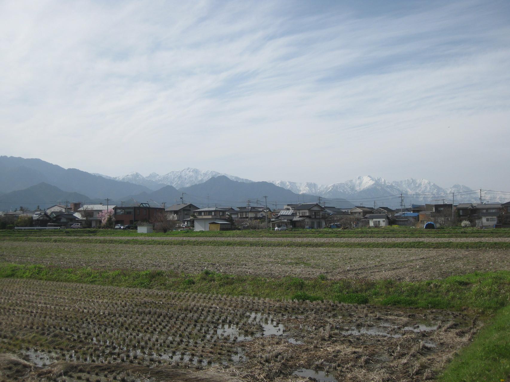 池田町から見る北アルプス