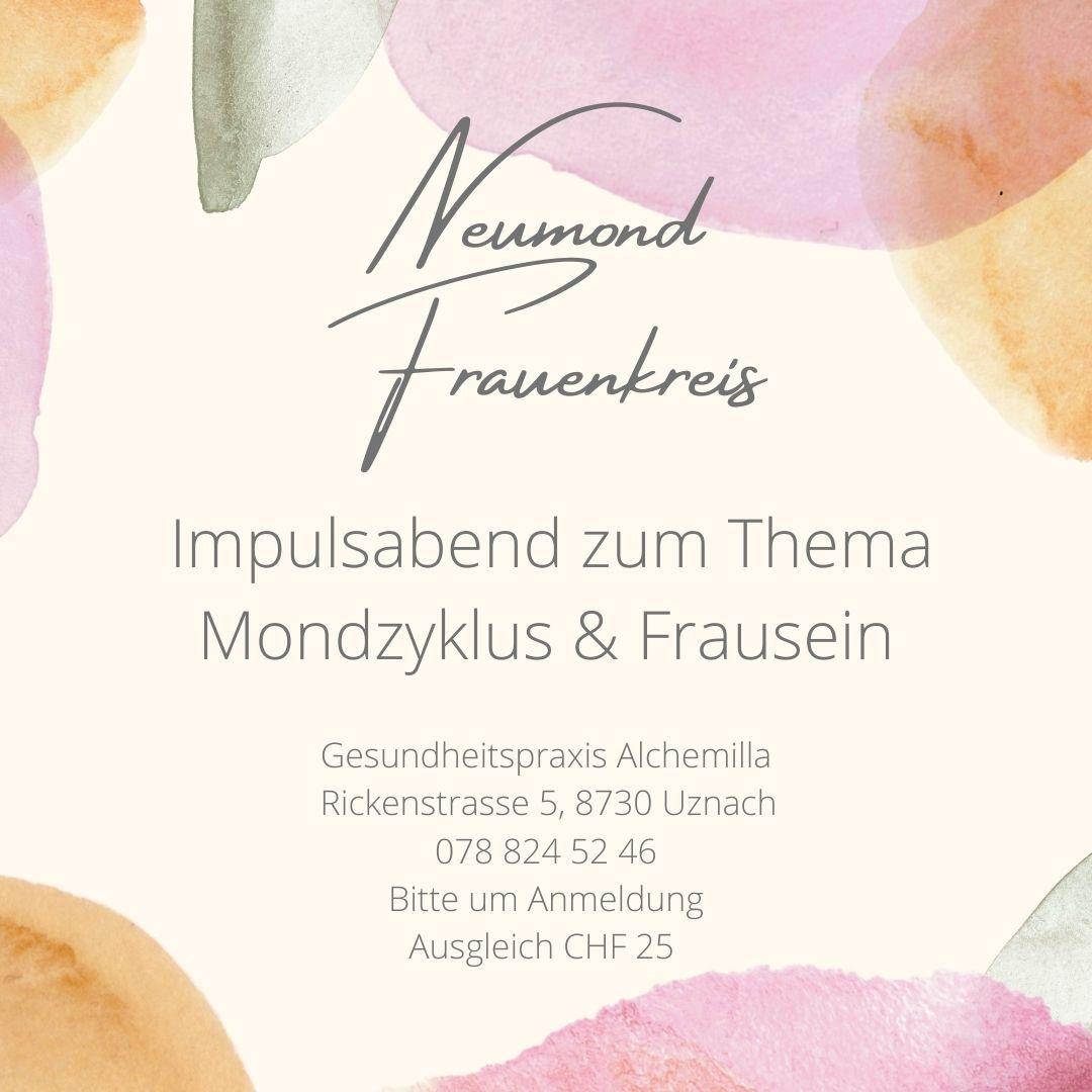 """""""Neumond Frauenkreis"""" ab September 2021"""