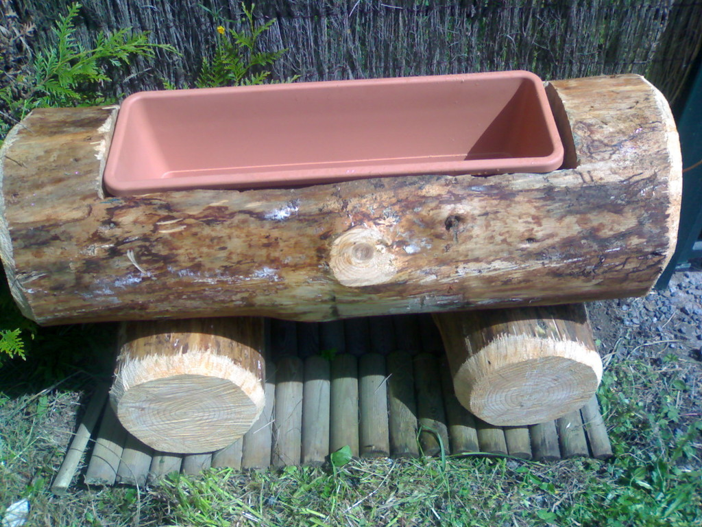 Réalisation de jardinières bois, bancs