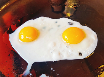 (半熟卵、生卵と妊婦)