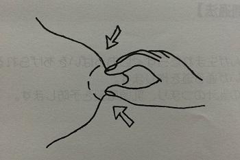 (乳管開通法 もみ方)