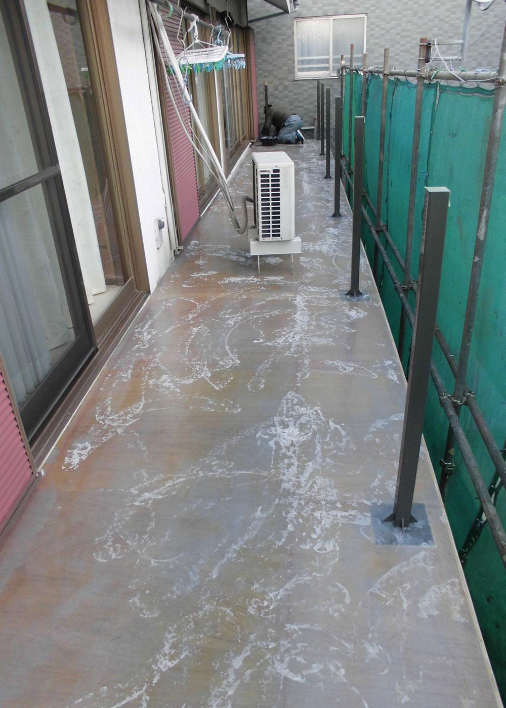 戸建ベランダ防水工事