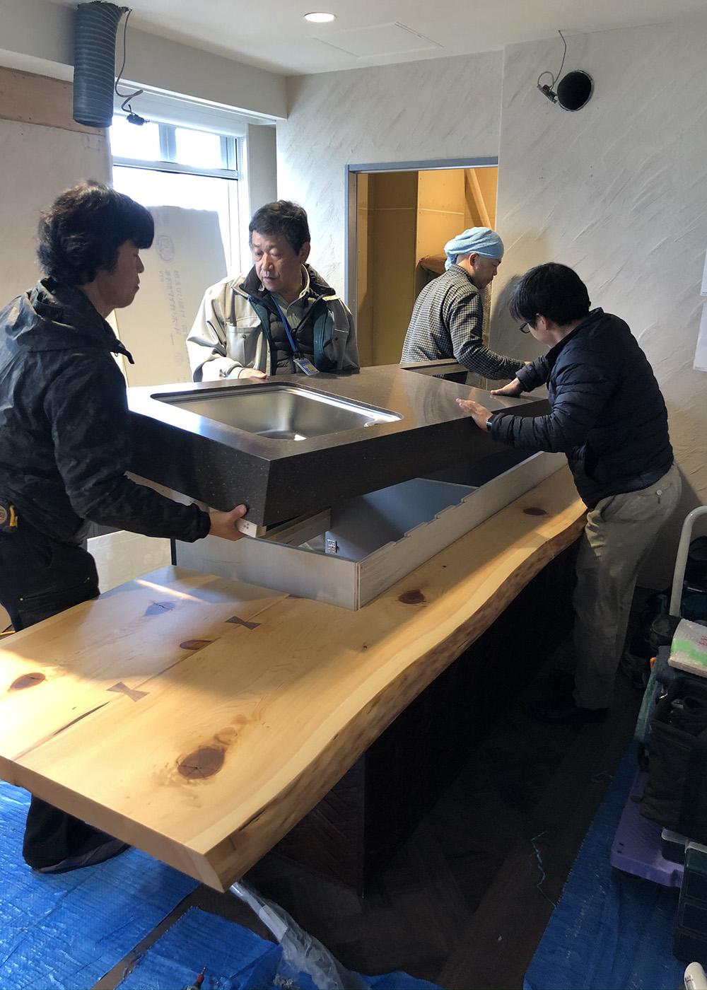 造作キッチン施工