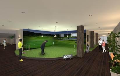 茨城県でゴルファーズレジデンスが進行中。9月の完成予定です。