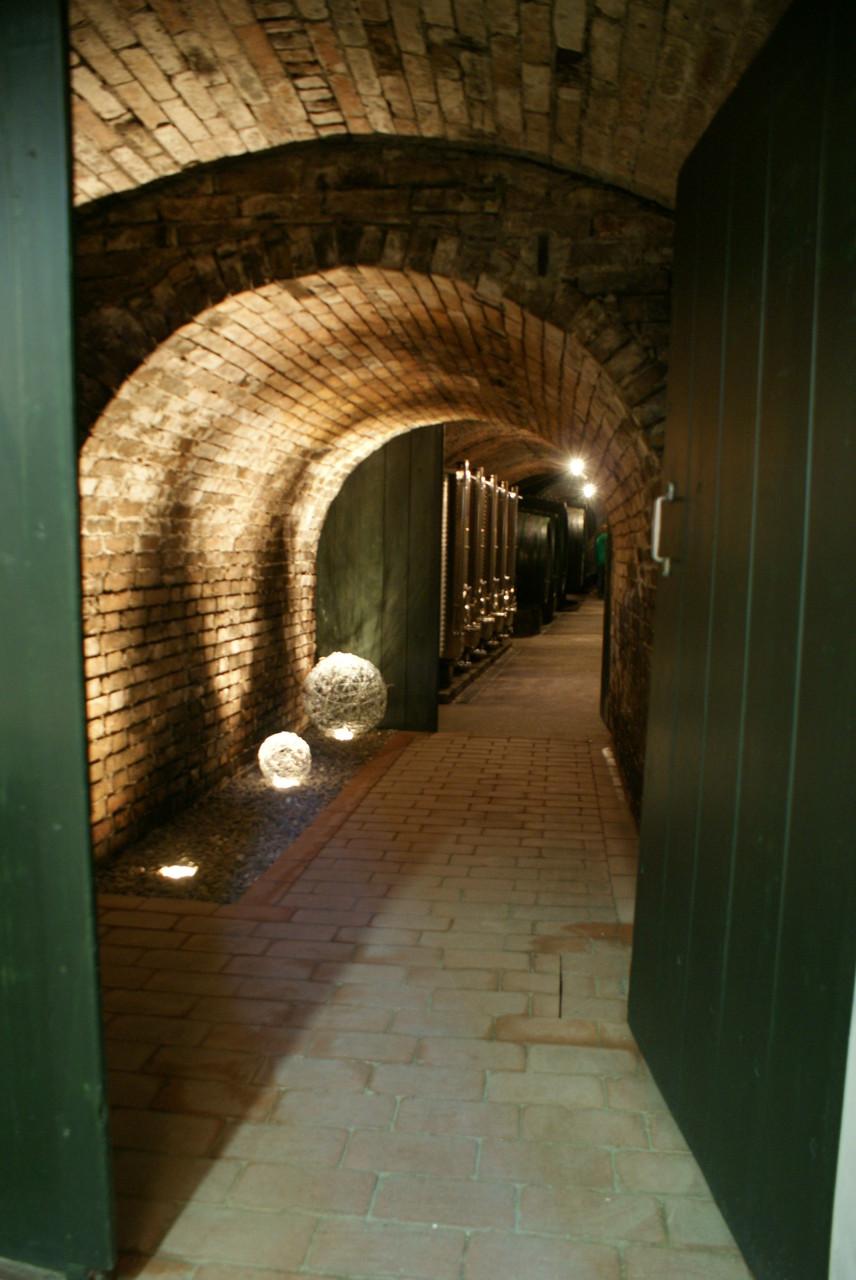 Eingang in die Kellerröhre