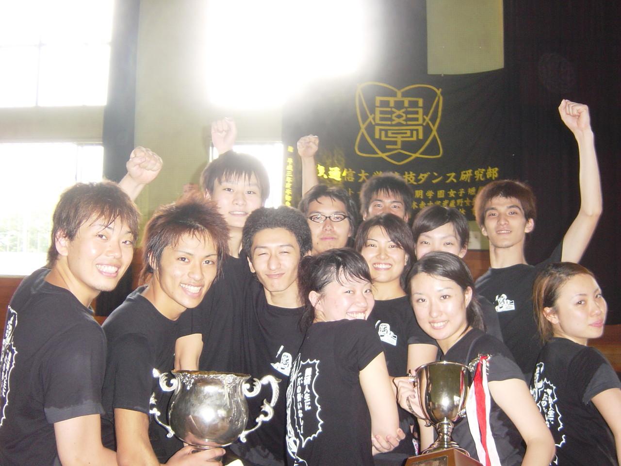 2005年 夏合宿にて部活の同期の仲間と
