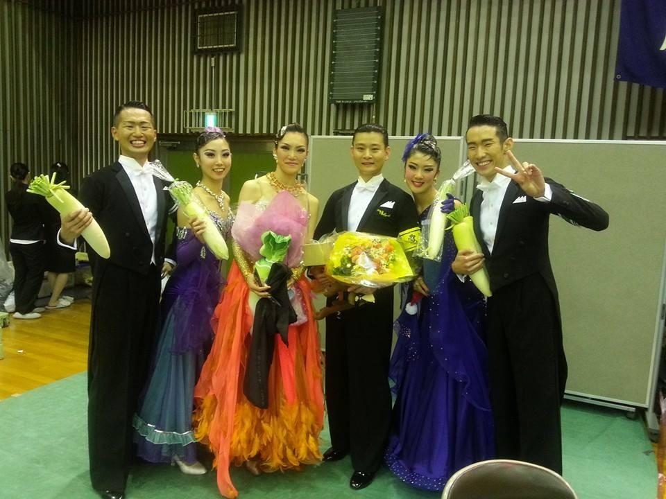 2013年 ツバメ杯でプロデモンストレーションに招待されました!初の学生の子達と☆