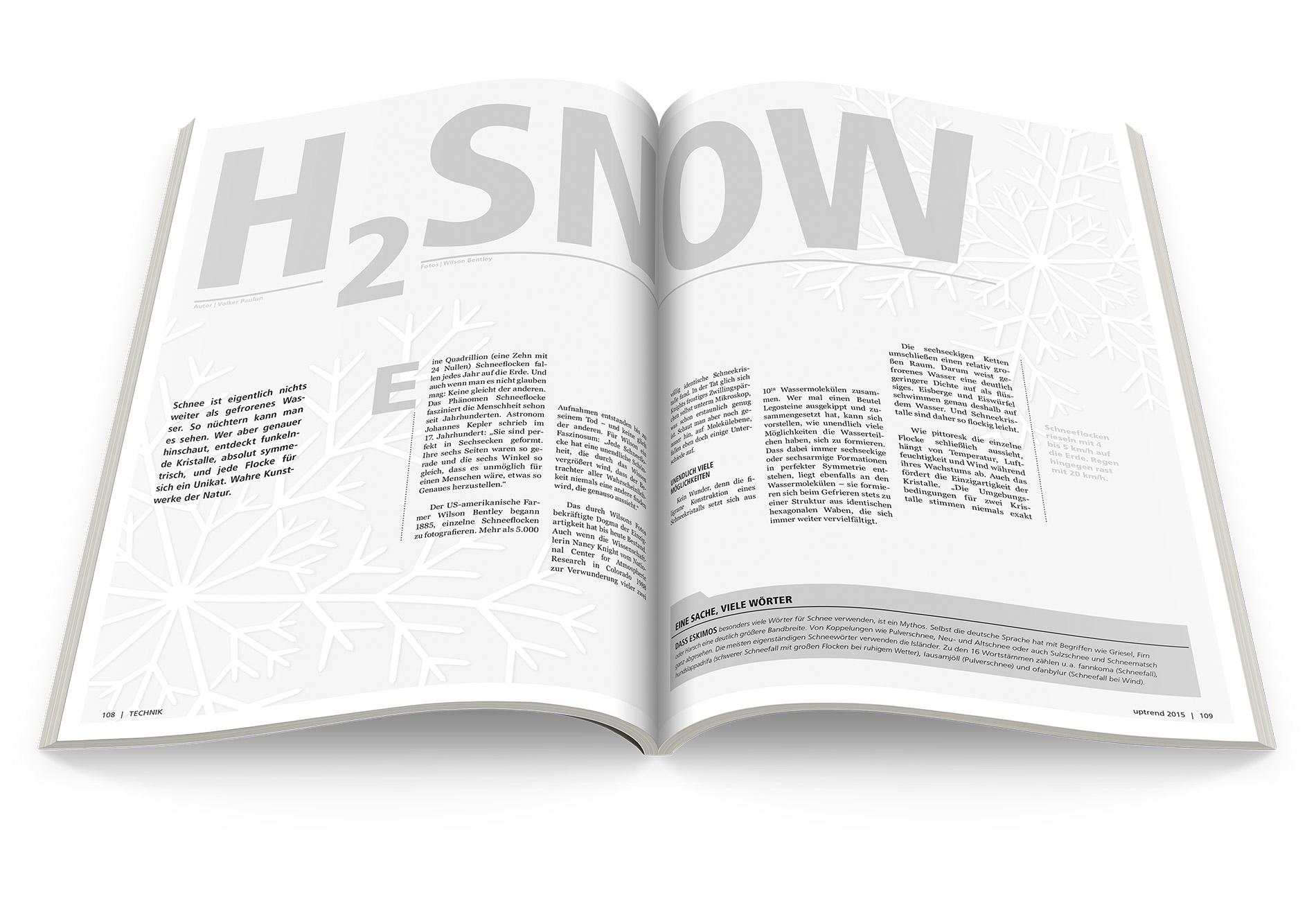 uptrend – Layout Schneeflocken – Entwurf und Umsetzung
