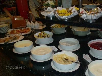 Ein kleiner Teil des Frühstück-Buffets