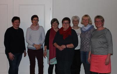 Der Vorstand 2019: Gaby Koopmann, Frauke Kersten, Kirstin Carstensen, Inke Carstensen-Klatt, Sabine Schnack, Kirsten Bartels, Dunja Petersen