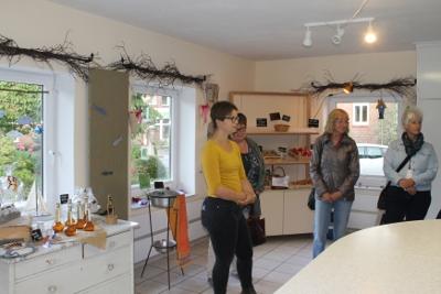 Hofladen mit selbstgemachen Produkten der Hauswirtschaftsschule Hademarschen