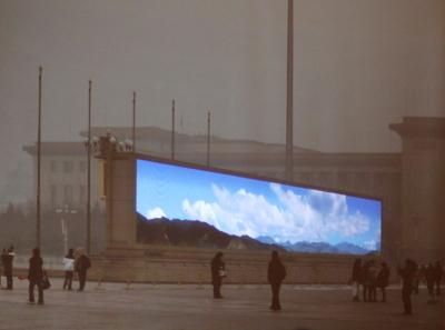 Blauer Himmel nur auf Bildern - extremer Smog in China.