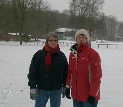 Spaziergang bei frostigen Temperaturen