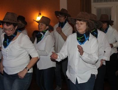 Line-Dancer des Landfrauenvereins Ohrstedt
