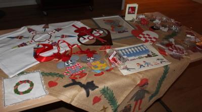 Weihnachtliche Handarbeiten ...