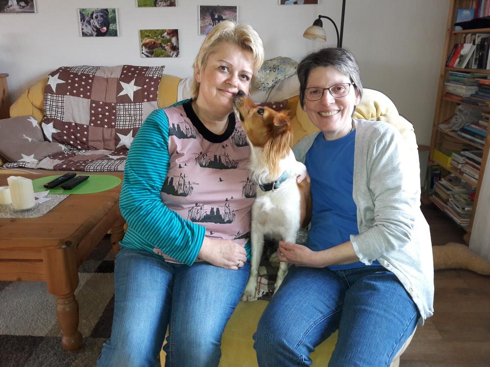 Mal ohne Hund auf der Durchreise zum Frühstück bei Daylas Schwester Leni . Danke an Regine und Thomas